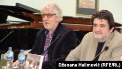 Esad Bajtal (lijevo) i Nerzuk Ćurak (desno) na promociji, foto: Dženana Halimović