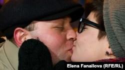 Поцелуй на Майдане