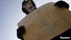 Протестите во Чешка против АКТА