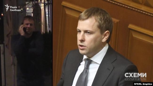 Серед відвідувачів журналісти впізнали одного з керівників депутатської групи «Відродження» Віталія Хомутинніка.