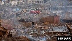 خسارات ناشی از یک انفجار مهیت در بیروت پایتخت لبنان