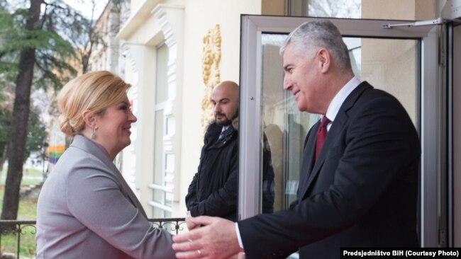 Dragan Čović i Kolinda Grabar Kitarović