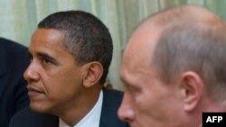 Президент США Барак Обама и премьер-министр России Владимир Путин. Москва, 7 июля 2009 года.