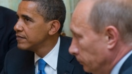 U.S. President Barack Obama (left) and Russian Prime Minister Vladimir Putin at a meeting in 2009