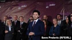 Dritan Abazović na predstavljanju Građanskog pokreta