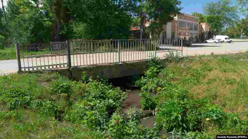 Одноименная река, превратившаяся в мутный ручей, пересекает поселок по центру с юга на север