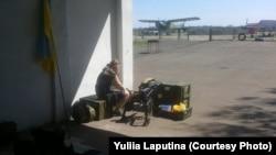 Юлія Лапутіна на Краматорському аеродромі, 2014 рік