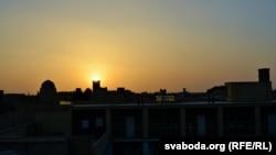 Заход сонца над Яздам