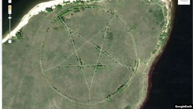 An old Soviet park or a huge site dedicated to devil worship? You make the call.