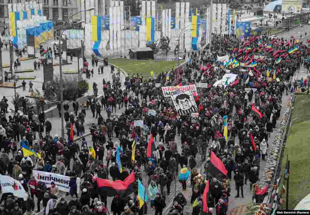 Акція за «народний імпічмент» президента Порошенка у Києві, 3 грудня 2017 року ПЕРЕГЛЯНУТИ ВІДЕО