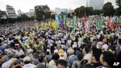 Organizers claim that 60,000 antinuclear turned out for the demonstration in Tokyo.