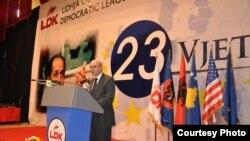 Isa Mustafa në 23 - vjetorin e themelimit t ë LDK-së