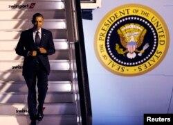 Президент США Барак Обама прибыл в Брюссель 25 марта