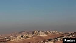 Панорама одного из израильских поселений на Западном берегу в окрестностях Иерусалима