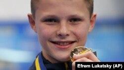 Чемпіон Європи зі стрибків у воду, 13-річний українець Олексій Середа. Київ, 11 серпня 2019 року