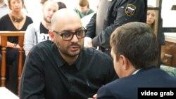 Российский режиссер Кирилл Серебренников в суде, где рассматривается его жалоба на меру пресечения. Москва, 4 сентября 2017 года.