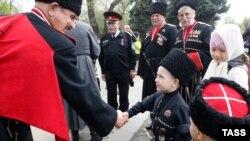 Парад Кубанского казачьего войска в Краснодаре, апрель 2018