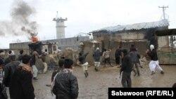 Протести проти спалення Корану в біля військової бази міжнародних сил у Баграмі