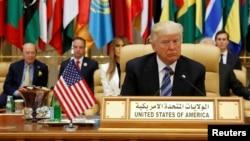 აშშ-ის პრეზიდენტი დონალდ ტრამპი სამიტზე. რიადი