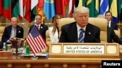 Трамп Эр Рияддагы Араб-Америка саммитинде, 21-май, 2017-жыл