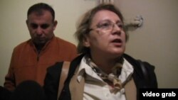 Azerbaijan - rights advocate Leyla Yunus is detained in Baku with her husband. roundup screen grab