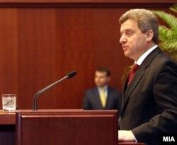 Gjorge Ivanov u obraćanju parlamentu, 15. decembar 2011.