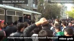Оьрсийчоь -- Москох полицино лаьцна шайн накъост схьавоккхуш бу бусулбанаш маьждиганна хьалха, 26Гезг2014