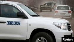 Автомобіль СММ ОБСЄ на Донбасі, 20 лютого 2014 (ілюстраційне фото)