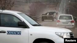 Машина Спеціальної моніторингової місії ОБСЄ в Україні (ілюстраційне фото)