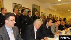Potpisivanje sporazuma Foto: Savo Prelević
