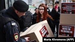 Активістів затримали на акції в Москві 11 травня
