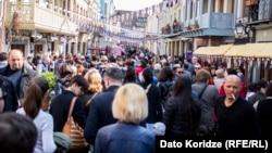 Վրաստան - Թբիլիսիում տոնում են Եվրամիության հետ վիզային ռեժիմի ազատականացումը, 26-ը մարտի, 2017թ․