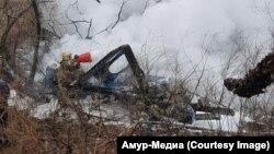 Ռուսաստան - Խաբարովսկում կործանված Ми-8 ուղղաթիռը, 11-ը ապրիլի, 2018թ․