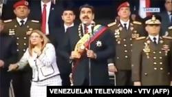 Під час замаху Ніколас Мадуро виступав на параді в Каракасі, 4 серпня 2018 року