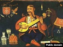 Козак Мамай. Народне традиційне забраженння козака із люлюкою. XVIII століття