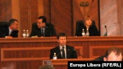Moldova - Image from the debate on the budget in Moldovan parliament, 26Mar2011