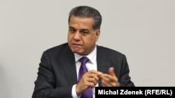 Фалах Мустафа, министр иностранных дел Курдского регионального правительства (КРП) Ирака. Прага, 13 октября 2014 года.
