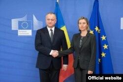 Cu Federica Mogherini la Bruxelles