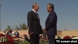 Президент России Владимир Путин и президент Узбекистана Шавкат Мирзияев. Самарканд, 6 сентября 2016 года.