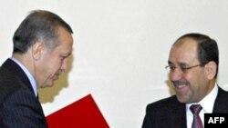 المالكي وأردوغان في بغداد 2008