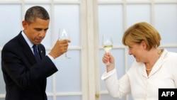 Barack Obama və Angela Merkel