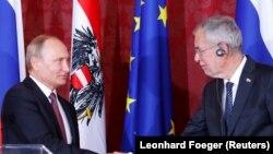 Владимир Путин и Александер Ван дер Беллен