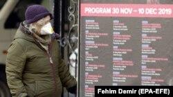 Stanovnica Sarajeva sa zaštitnom maskom, 10. januar