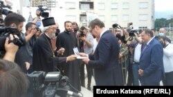 Aleksandar Vučić i Milorad Dodik u Banjaluci, na mjestu izgradnje hrama srpsko-ruskog prijateljstva