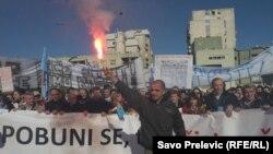 Antivladini protesti u Podgorici, januar 2012.