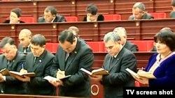 Türkmenistanyň prezidenti Gurbanguly Berdimuhamedowyň ýolbaşçylygynda geçirilen maslahatlaryň biri.