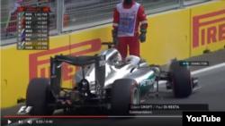 «Formula-1» yarışmasının 2-ci günü. Hamilton qəzaya düşdü, 18.06.2016