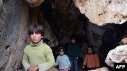 Mağaralarda məskunlaşan Suriyalı qaçqınlar