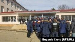La secţia de votare din Doroţcaia, Dubăsari, unde au votat alegătorii ce domiciliază în zona transnistreană