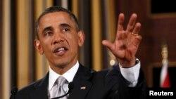 Барак Обама на прес-конференції в Аммані, 22 березня 2013 року